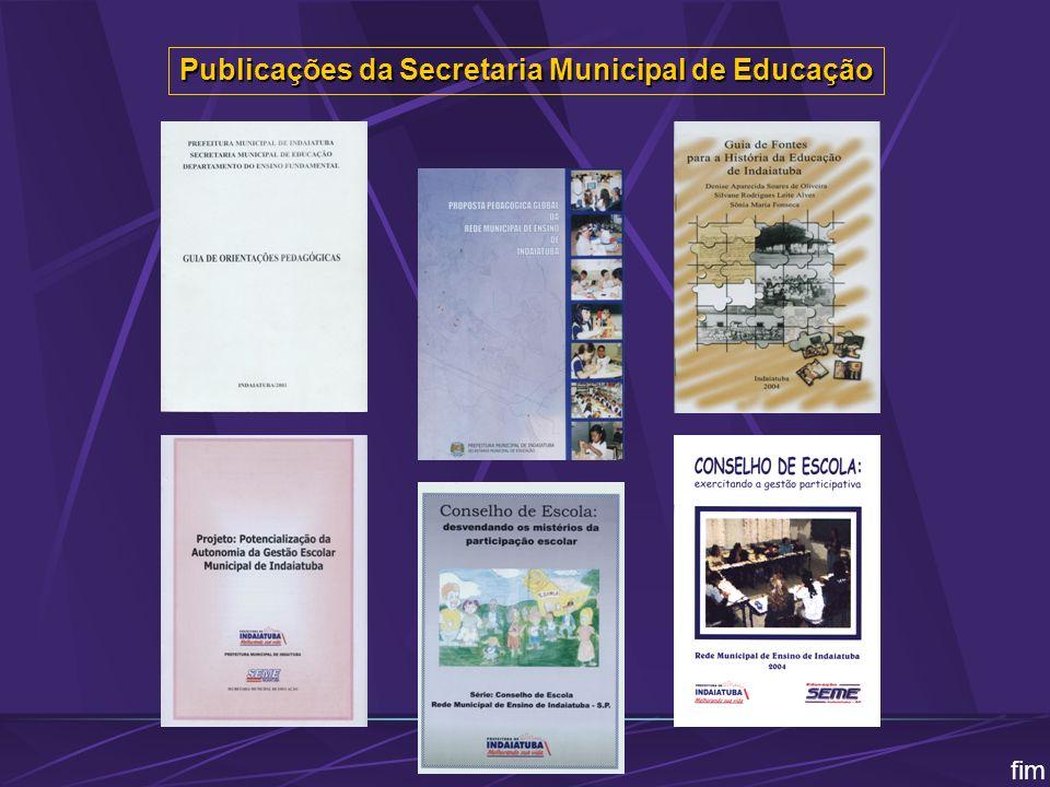 Publicações da Secretaria Municipal de Educação