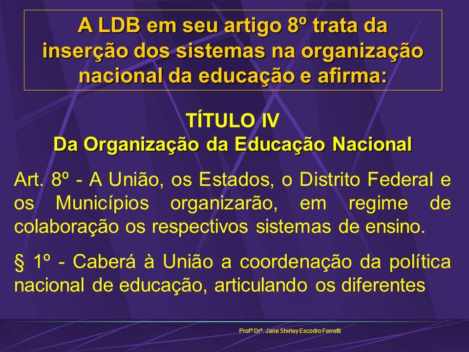 TÍTULO IV Da Organização da Educação Nacional