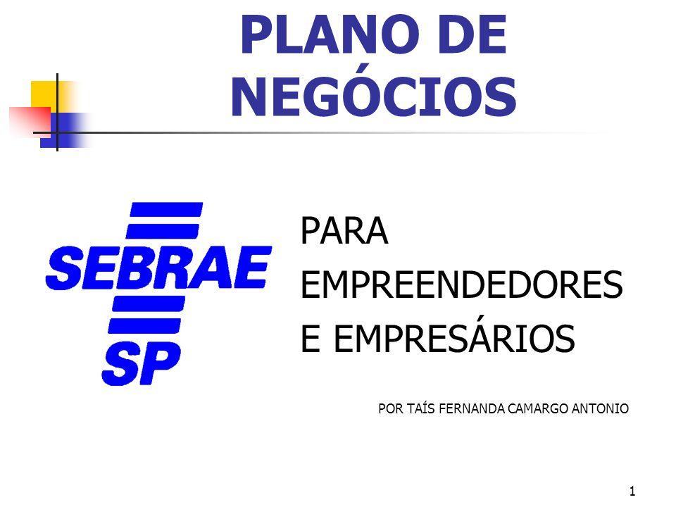 PLANO DE NEGÓCIOS PARA EMPREENDEDORES E EMPRESÁRIOS