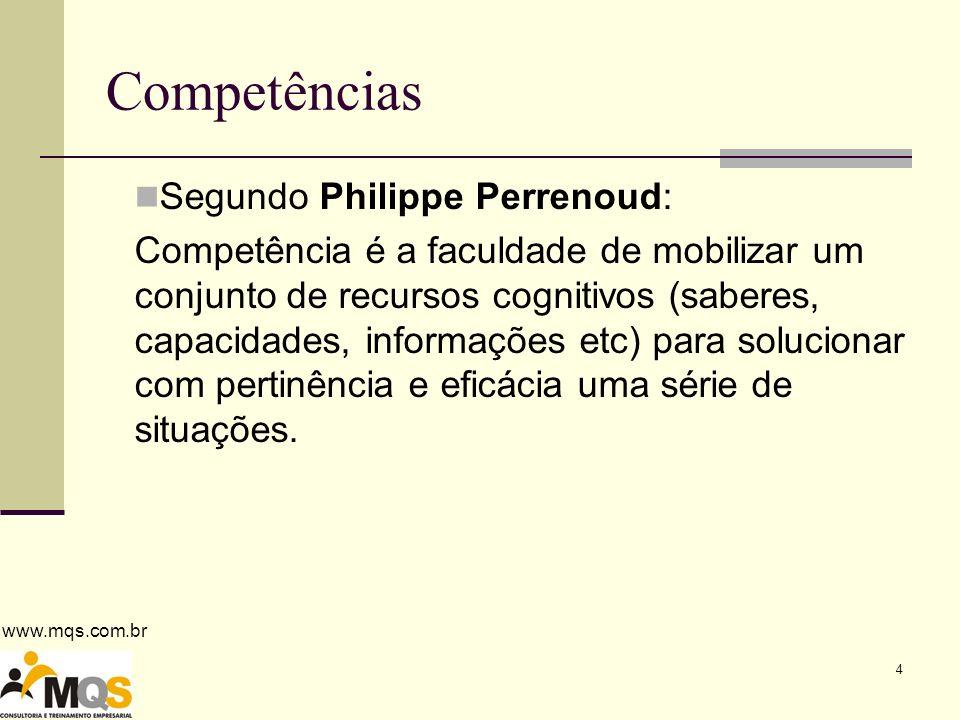 Competências Segundo Philippe Perrenoud: