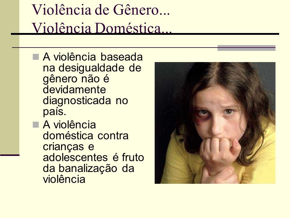 Violência de Gênero... Violência Doméstica...