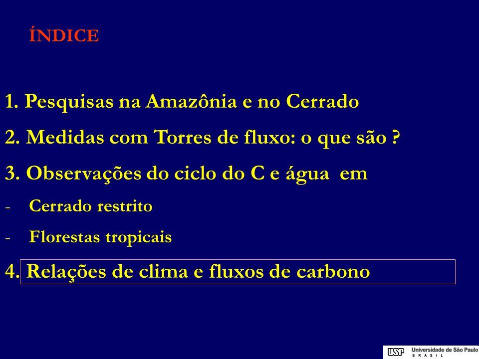 1. Pesquisas na Amazônia e no Cerrado