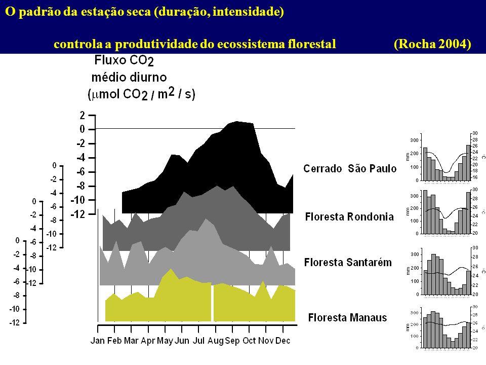 O padrão da estação seca (duração, intensidade)