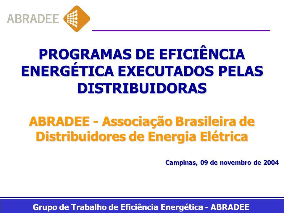 PROGRAMAS DE EFICIÊNCIA ENERGÉTICA EXECUTADOS PELAS DISTRIBUIDORAS
