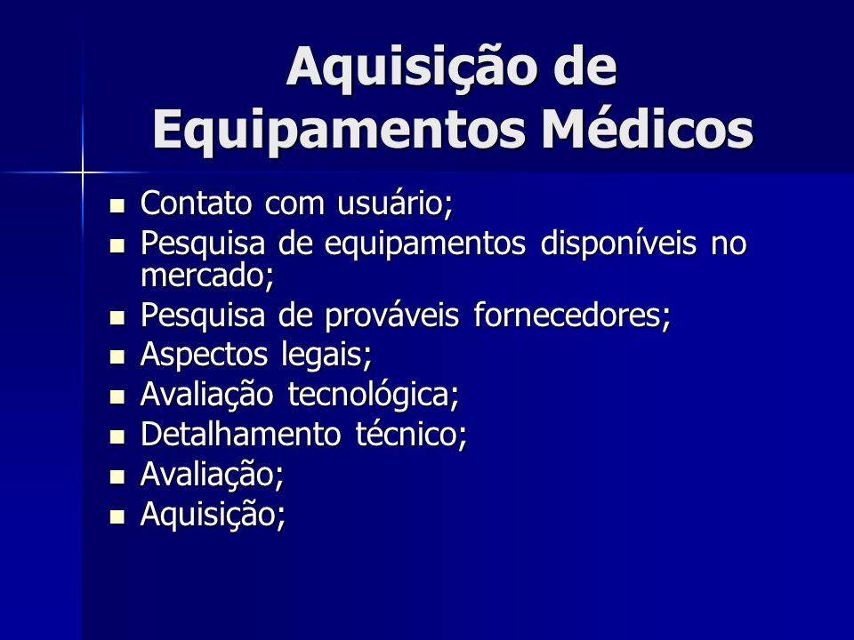 Aquisição de Equipamentos Médicos