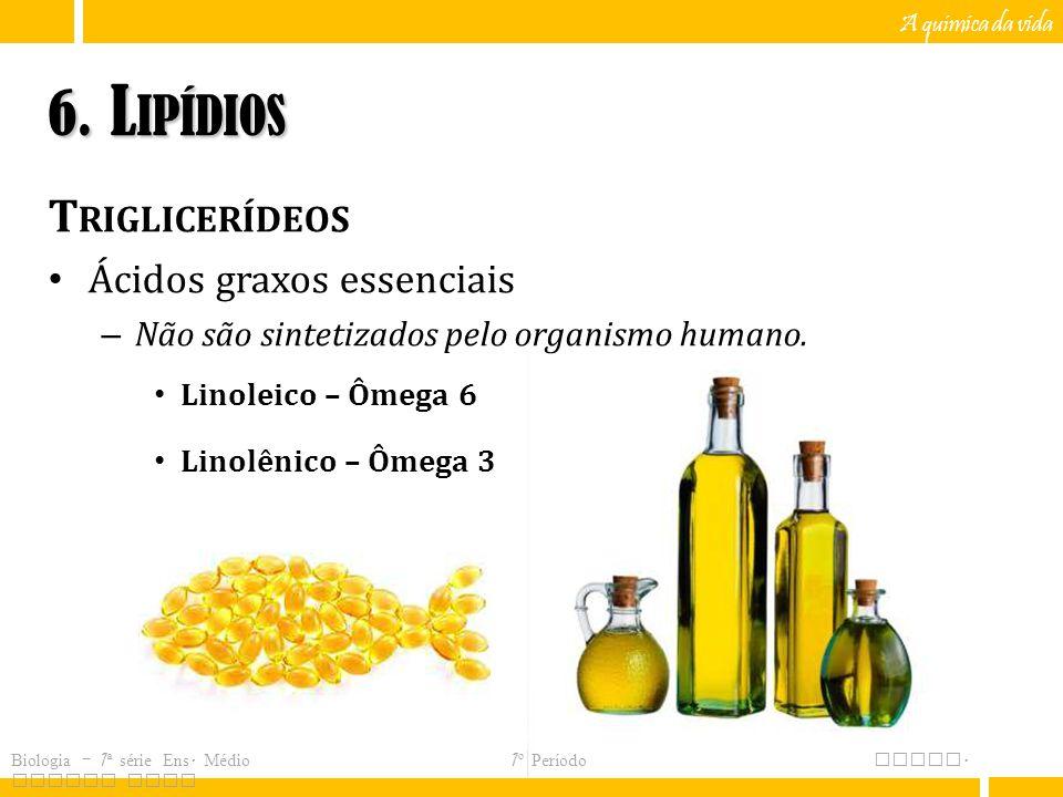 6. Lipídios Triglicerídeos Ácidos graxos essenciais