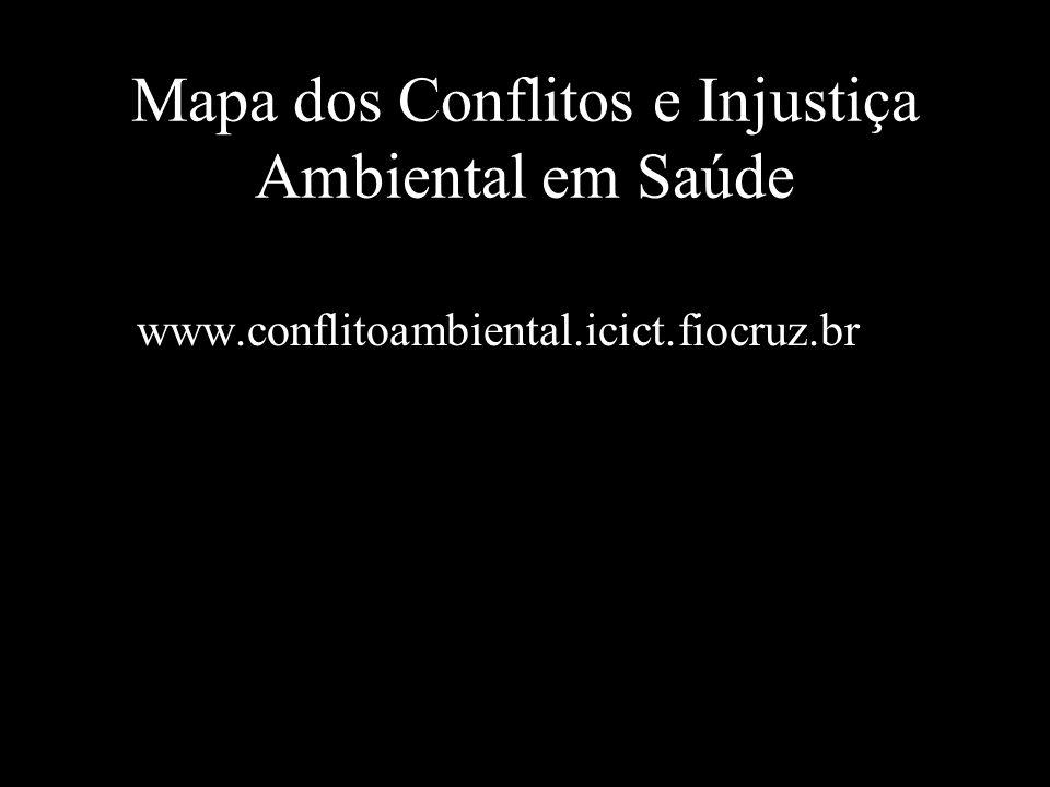 Mapa dos Conflitos e Injustiça Ambiental em Saúde