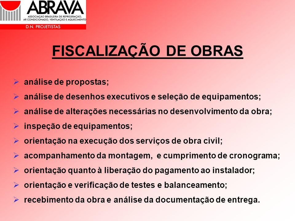 FISCALIZAÇÃO DE OBRAS análise de propostas;