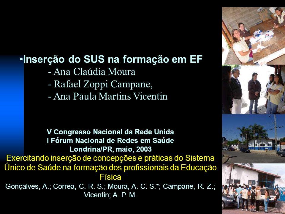V Congresso Nacional da Rede Unida I Fórum Nacional de Redes em Saúde