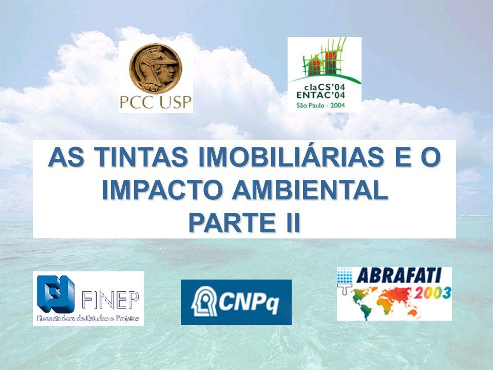 AS TINTAS IMOBILIÁRIAS E O IMPACTO AMBIENTAL