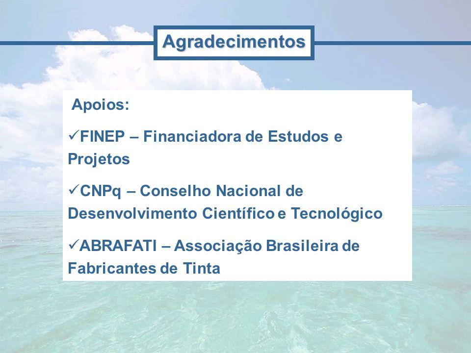 Agradecimentos Apoios: FINEP – Financiadora de Estudos e Projetos