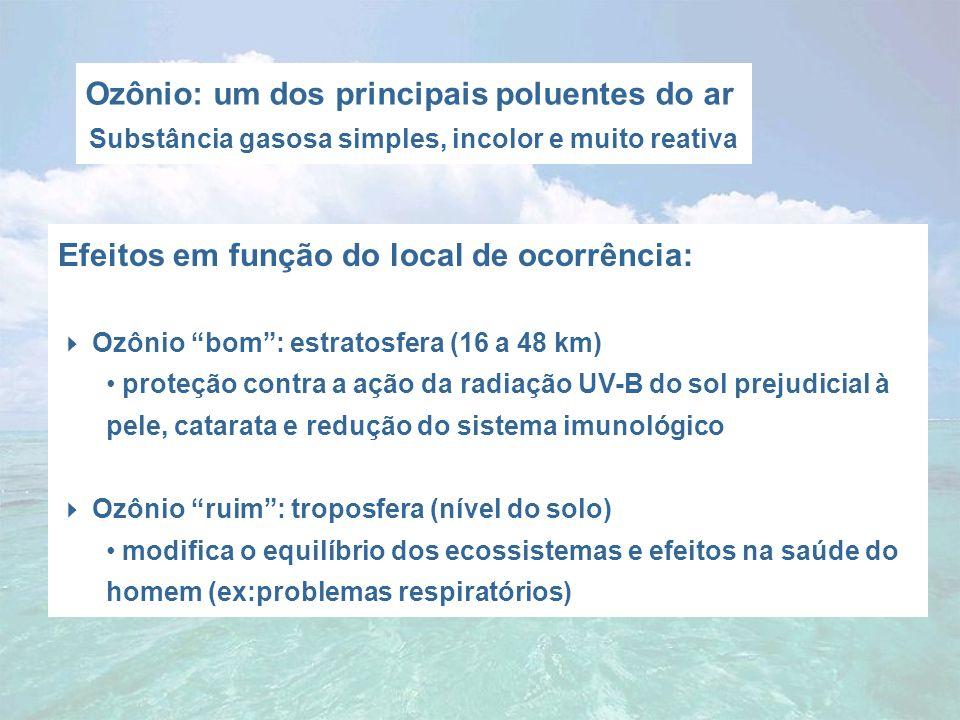 Ozônio: um dos principais poluentes do ar