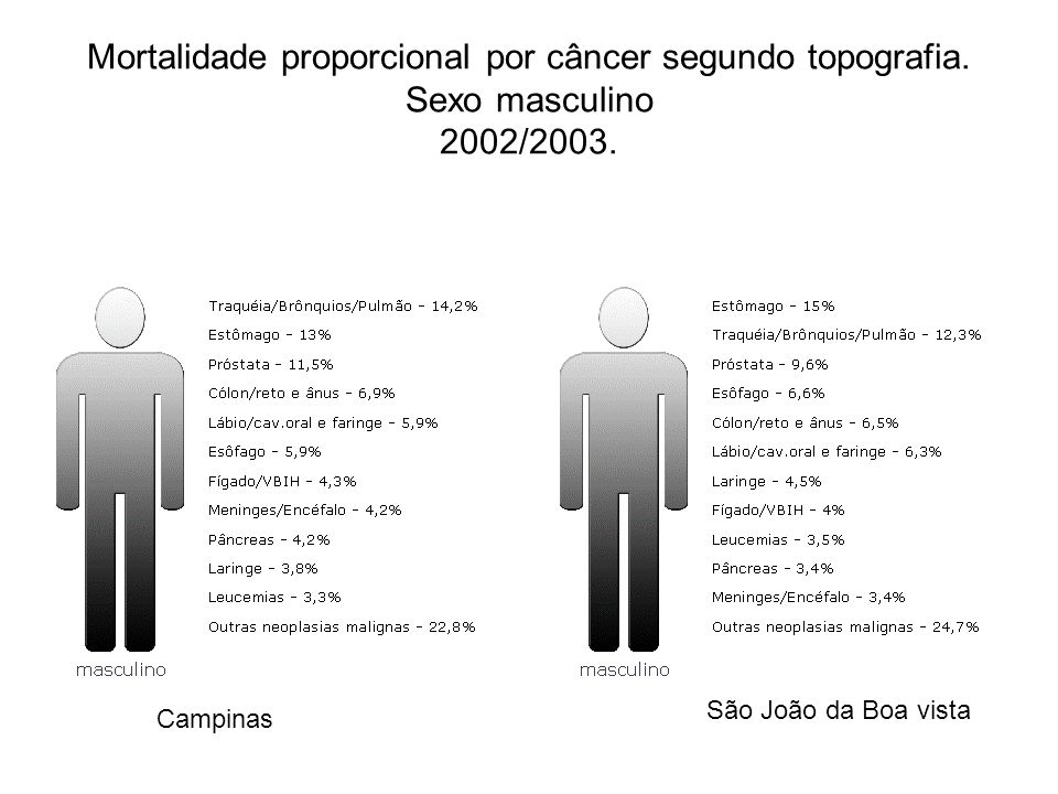 Mortalidade proporcional por câncer segundo topografia