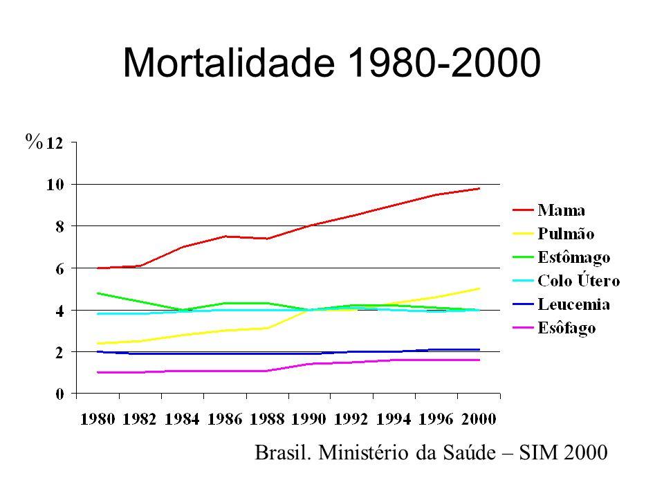 Mortalidade 1980-2000 % Brasil. Ministério da Saúde – SIM 2000
