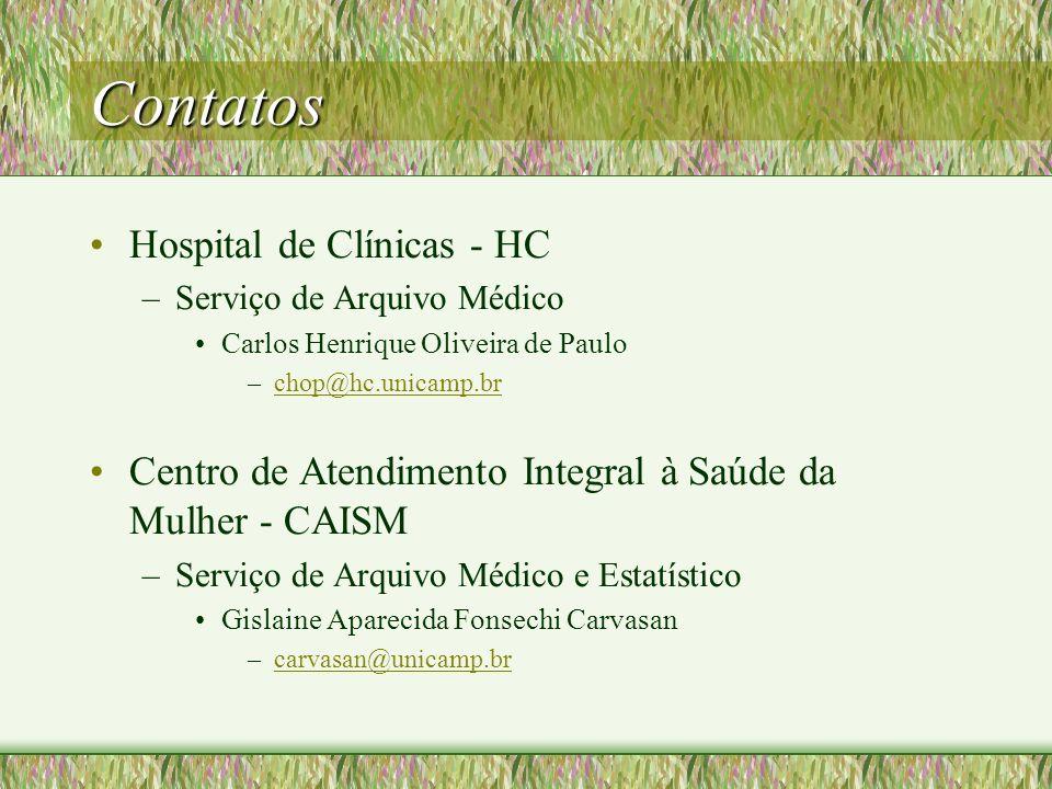 Contatos Hospital de Clínicas - HC