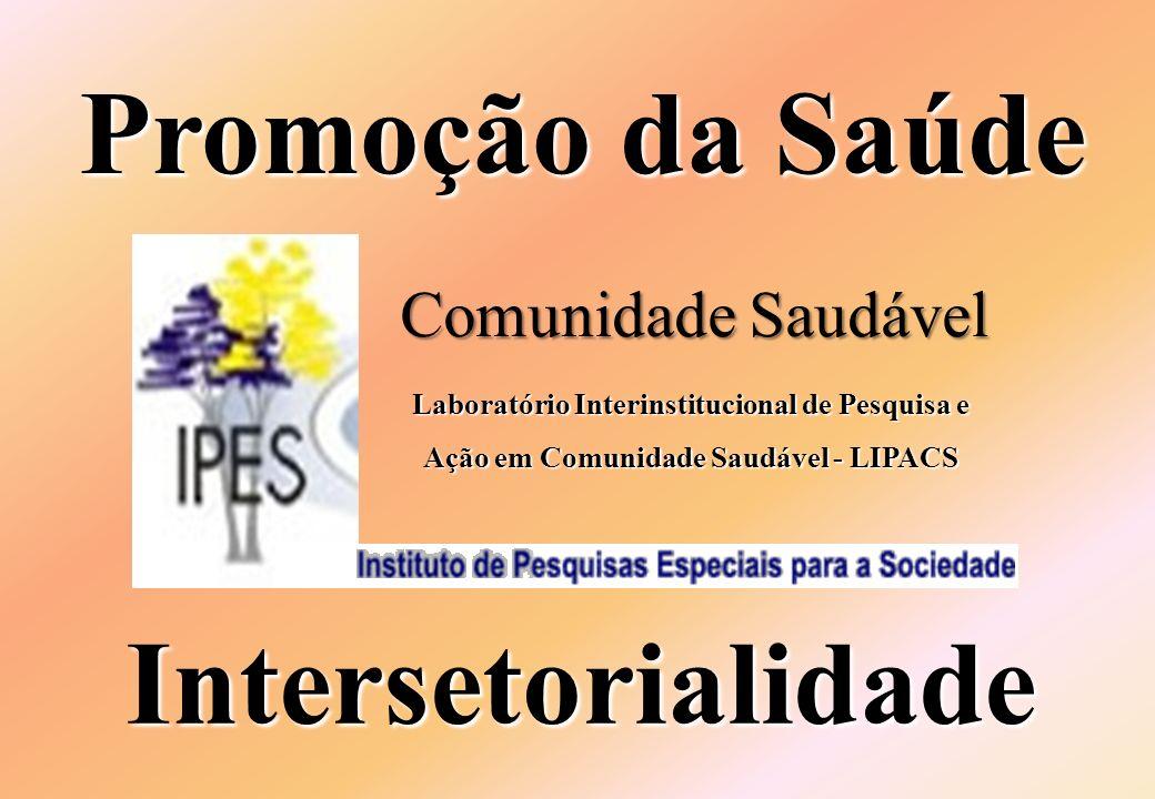 Promoção da Saúde Intersetorialidade Comunidade Saudável