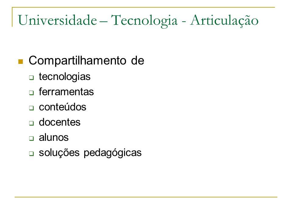 Universidade – Tecnologia - Articulação