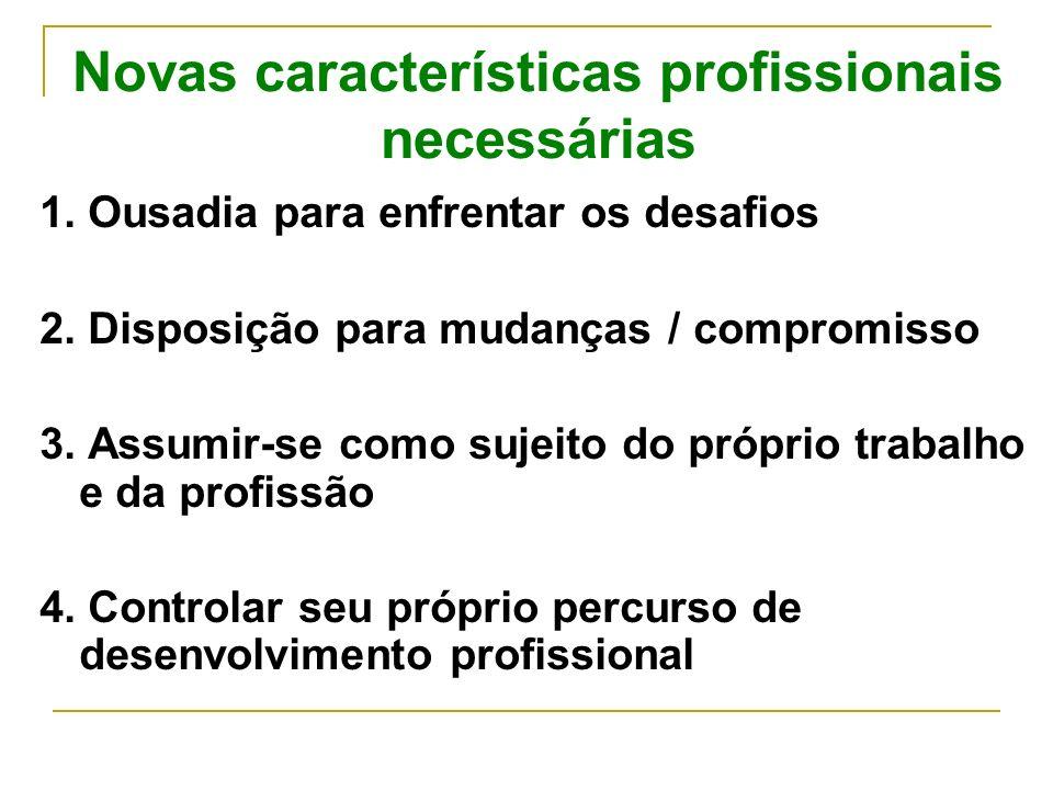 Novas características profissionais necessárias