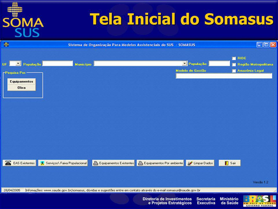 Tela Inicial do Somasus