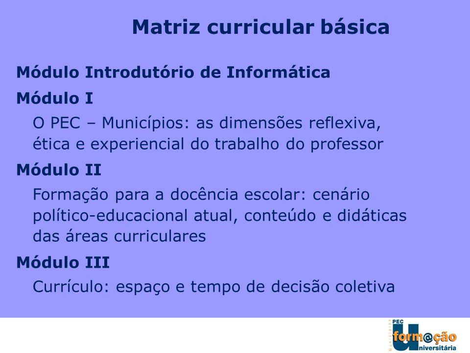 Matriz curricular básica