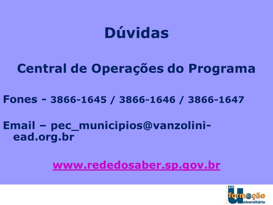 Central de Operações do Programa