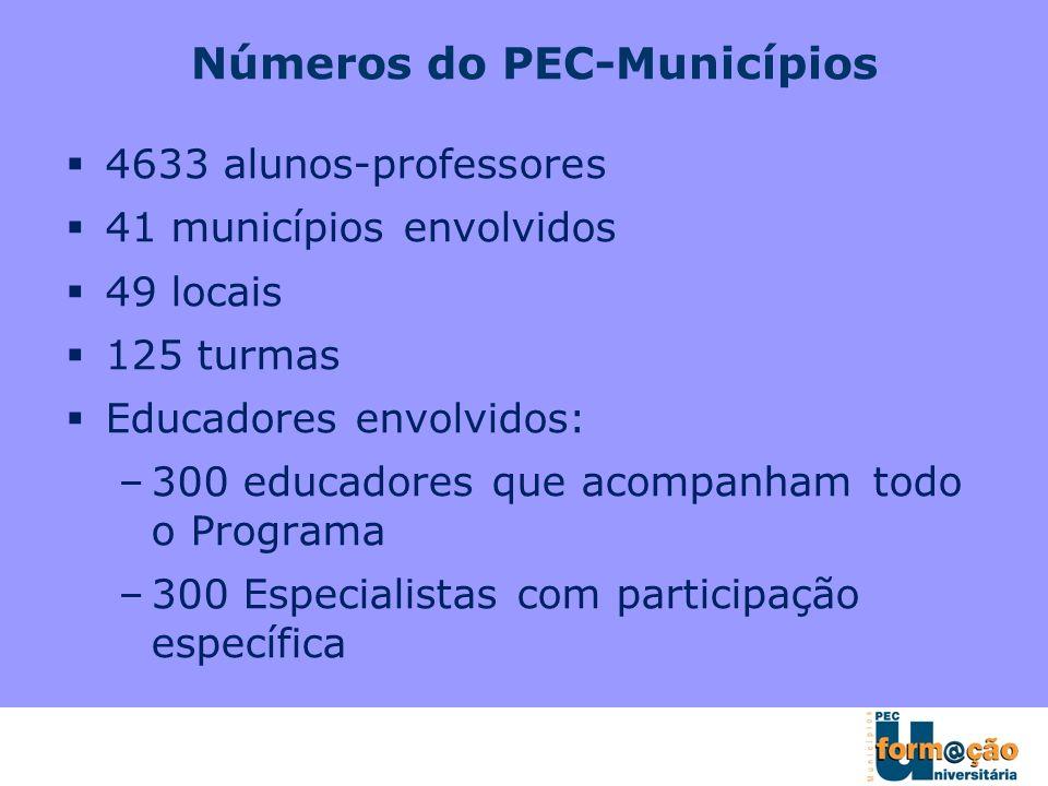 Números do PEC-Municípios