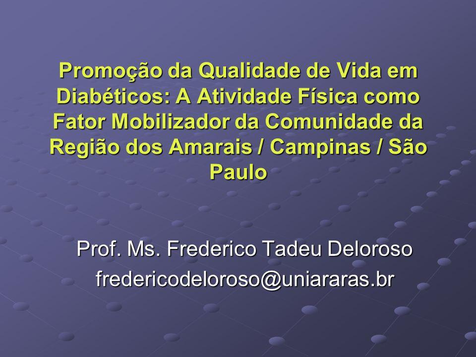 Prof. Ms. Frederico Tadeu Deloroso fredericodeloroso@uniararas.br