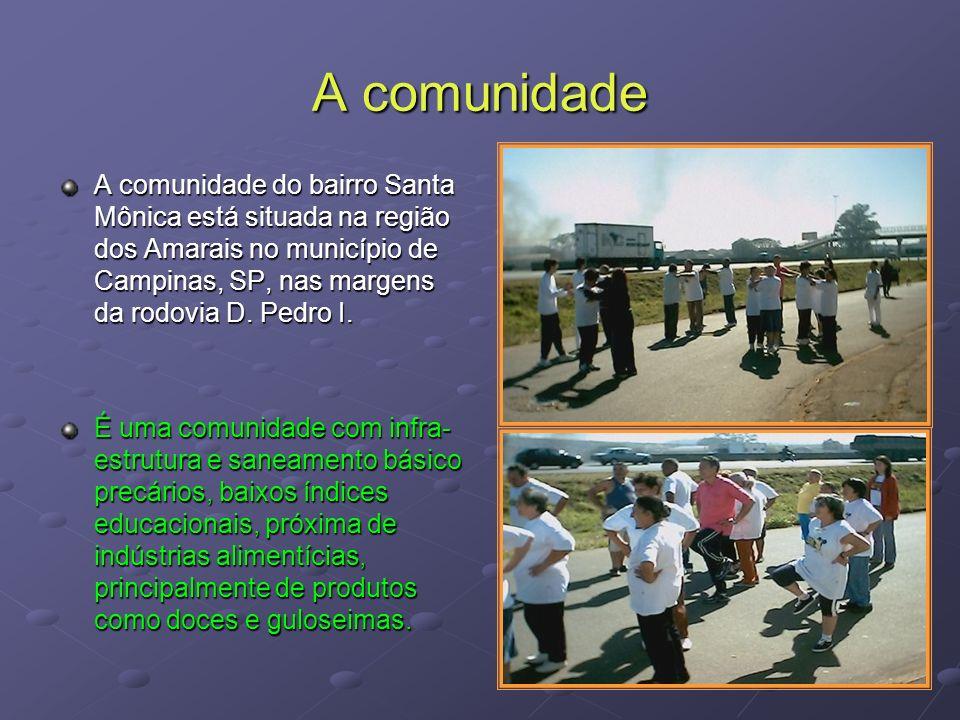 A comunidade A comunidade do bairro Santa Mônica está situada na região dos Amarais no município de Campinas, SP, nas margens da rodovia D. Pedro I.