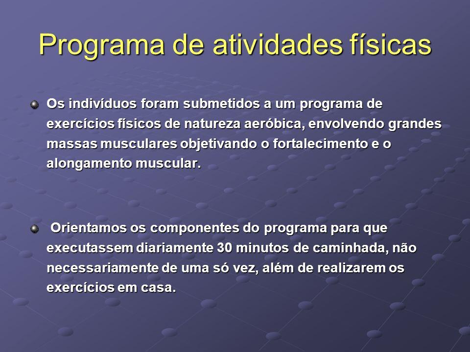 Programa de atividades físicas