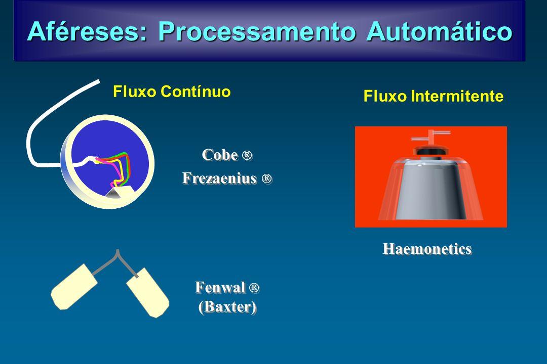 Aféreses: Processamento Automático