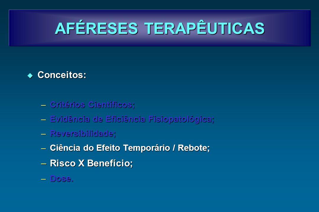 AFÉRESES TERAPÊUTICAS