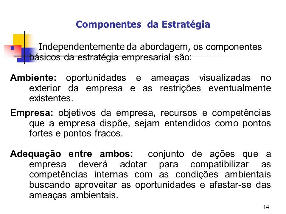 Componentes da Estratégia