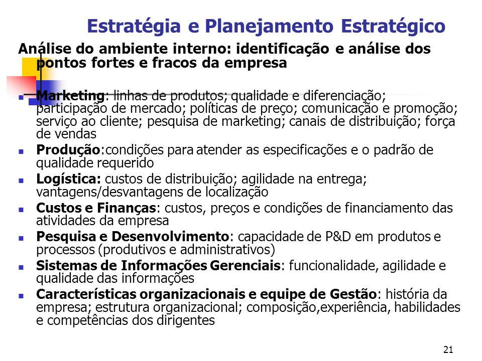 Estratégia e Planejamento Estratégico