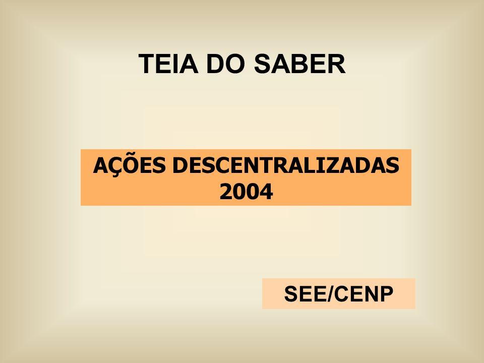 AÇÕES DESCENTRALIZADAS