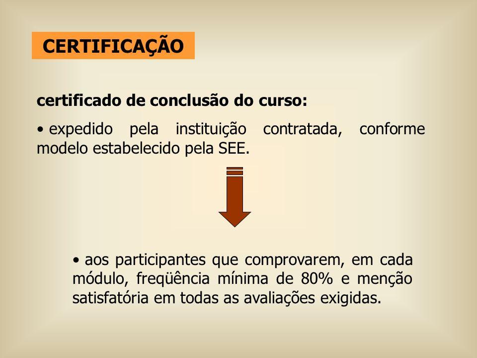 CERTIFICAÇÃO certificado de conclusão do curso: