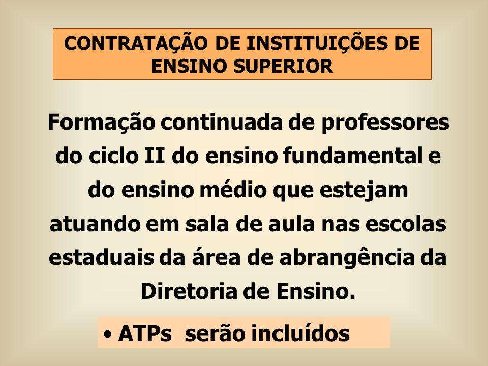 CONTRATAÇÃO DE INSTITUIÇÕES DE ENSINO SUPERIOR