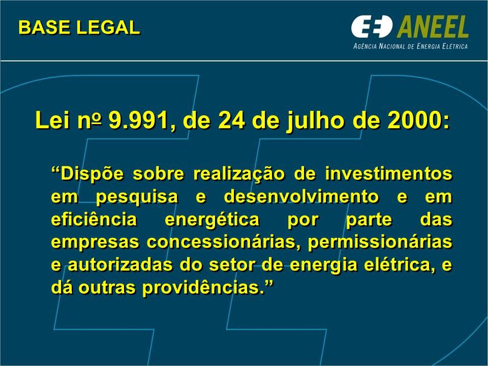 Lei no 9.991, de 24 de julho de 2000: BASE LEGAL
