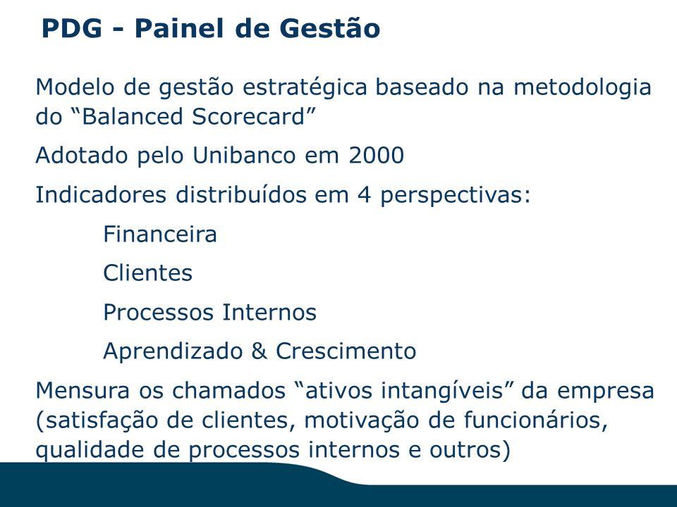 PDG - Painel de Gestão Modelo de gestão estratégica baseado na metodologia do Balanced Scorecard