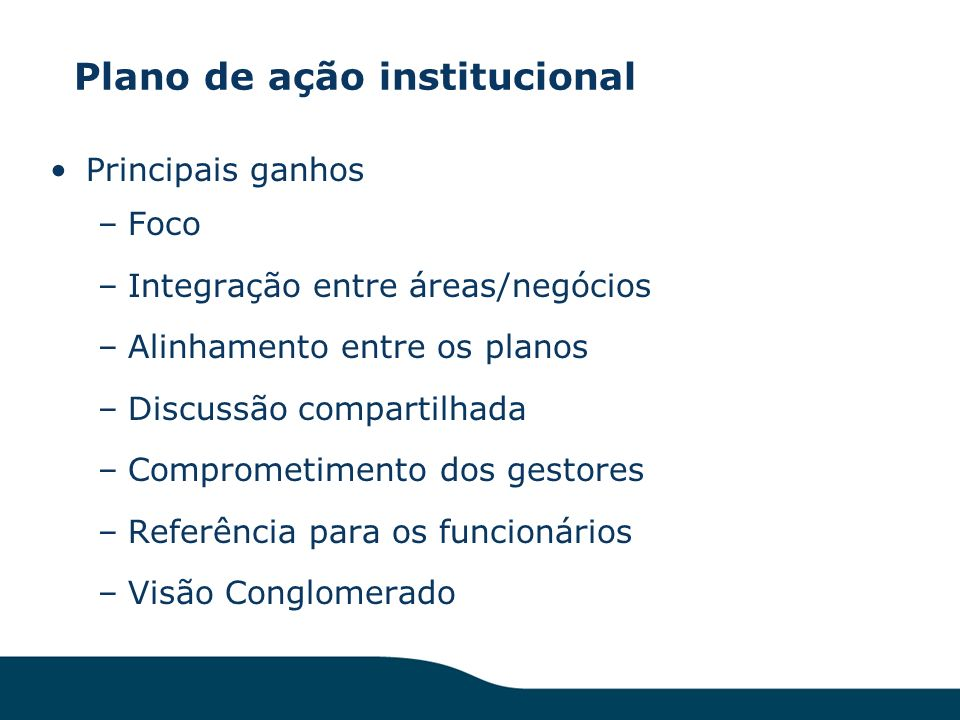 Plano de ação institucional