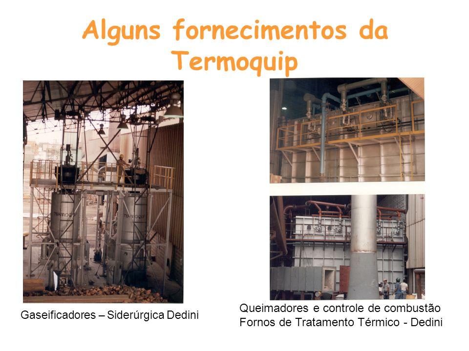 Alguns fornecimentos da Termoquip