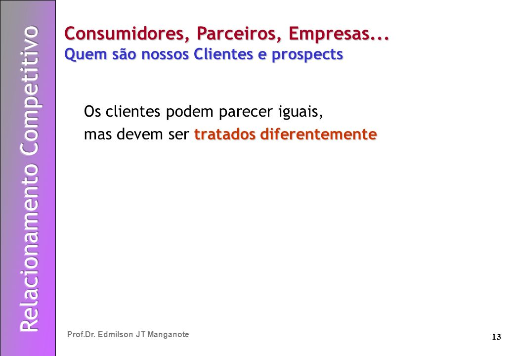 Consumidores, Parceiros, Empresas... Quem são nossos Clientes e prospects