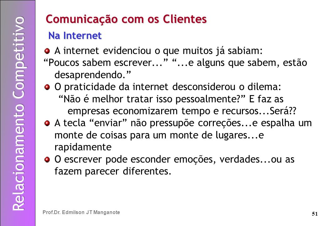 Comunicação com os Clientes
