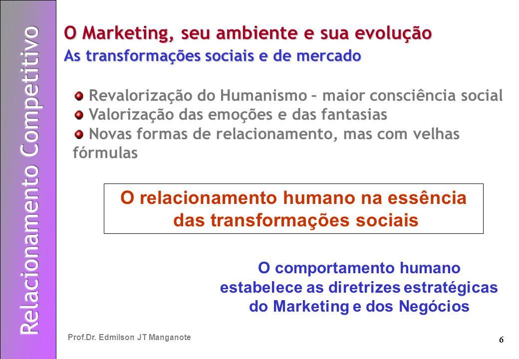 O relacionamento humano na essência das transformações sociais