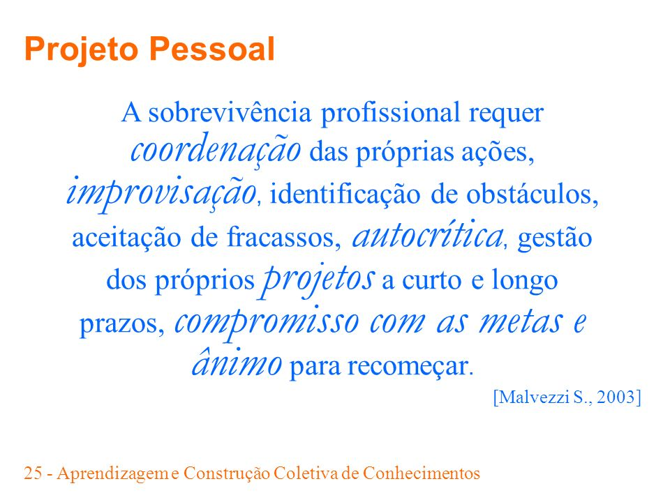 Projeto Pessoal