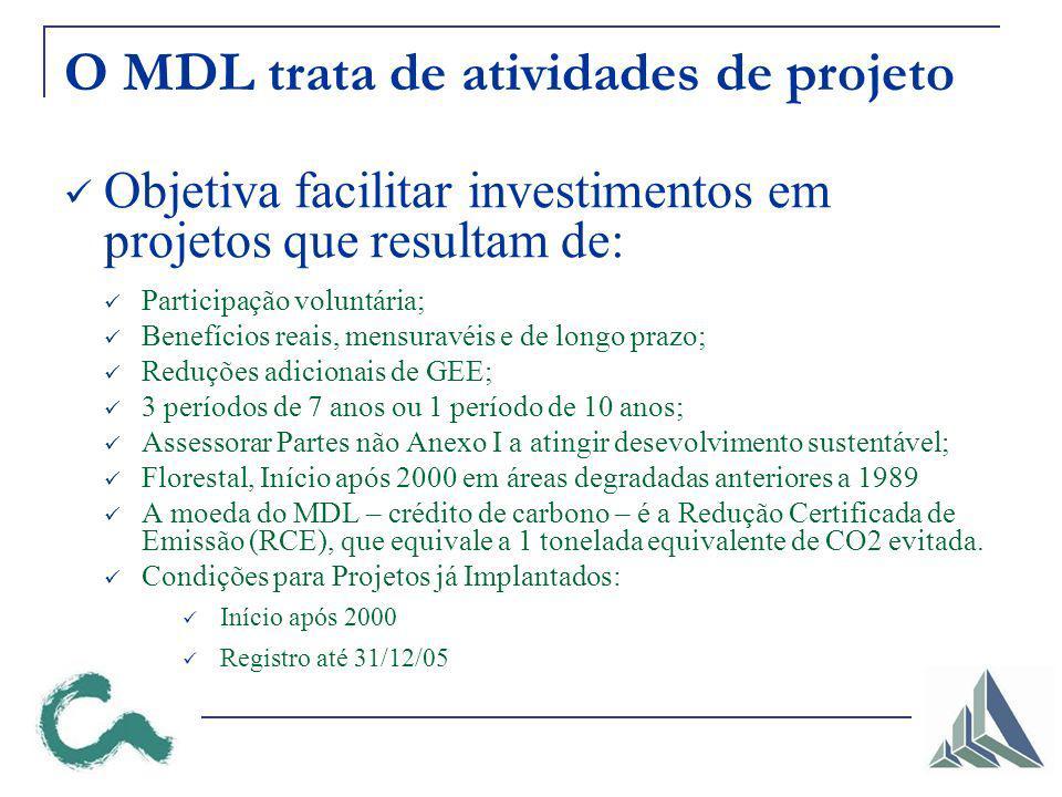 O MDL trata de atividades de projeto