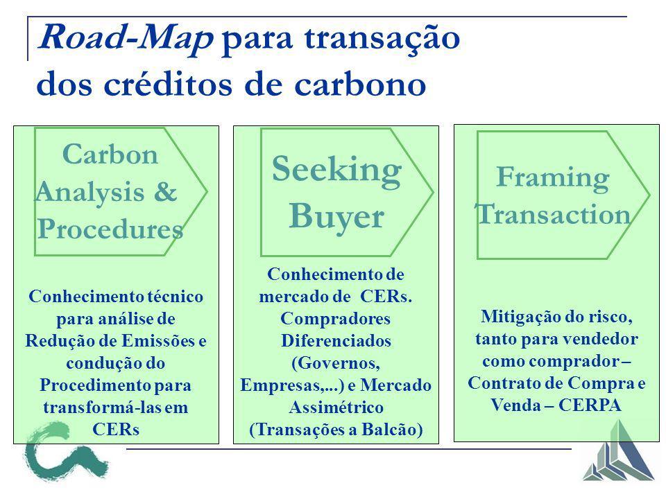 Road-Map para transação dos créditos de carbono