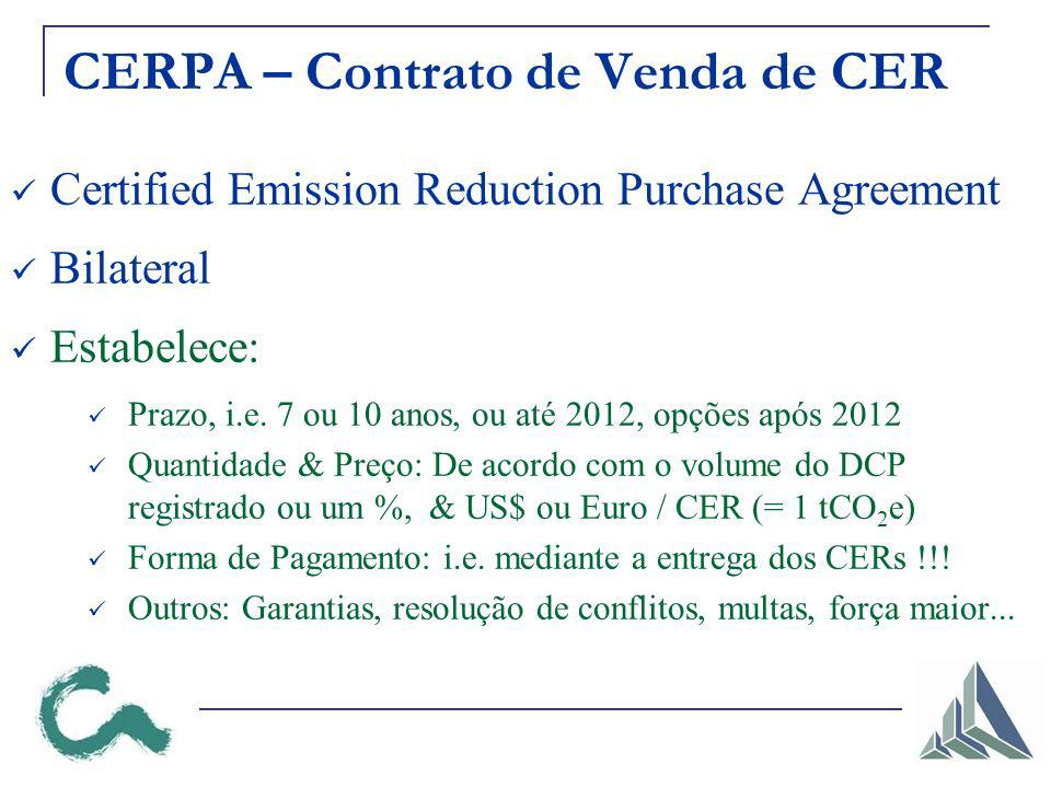 CERPA – Contrato de Venda de CER