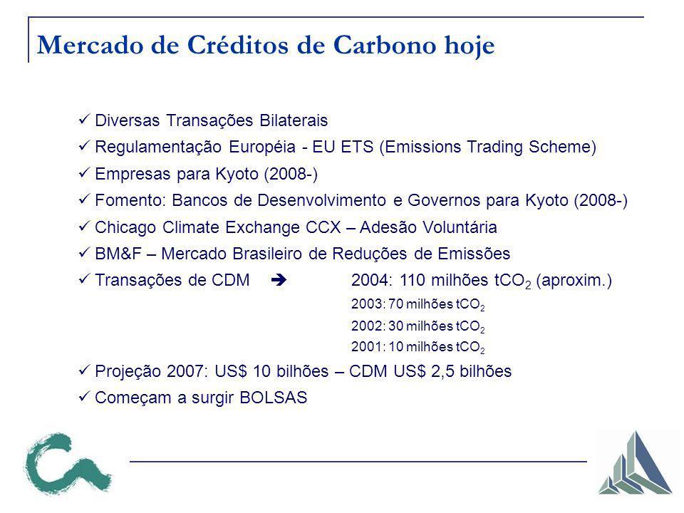 Mercado de Créditos de Carbono hoje