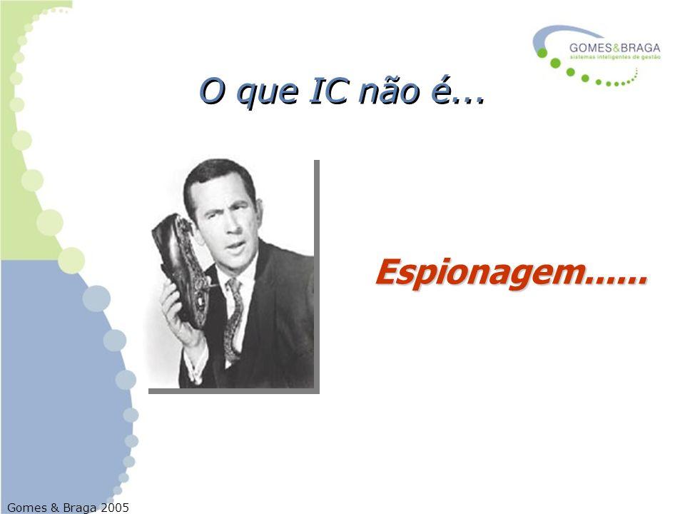 O que IC não é... Espionagem......