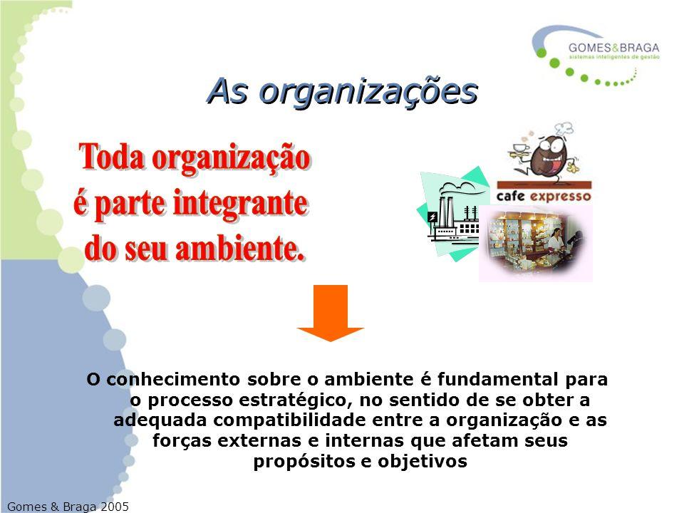 Toda organização é parte integrante do seu ambiente.
